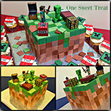 minecraft birthday cake cupcakes sweet treat