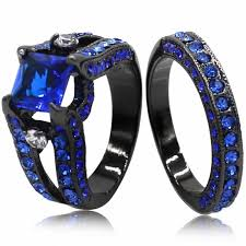 blue promise rings images Black gold blue sapphire princess promise rings for her new jpg