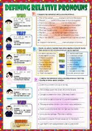 english worksheets relative clauses worksheets page 4