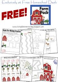 free farm themed cutting and preschool practice worksheets farms