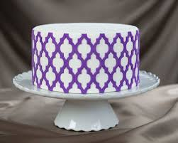 Chandelier Cake Stencil Moroccan Lattice Onlay A 3d Stencil For Cakes And Arts U0026 Crafts