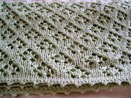 free knitting pattern quick baby blanket elven pixie baby blanket simple knit lace panel with picot edging
