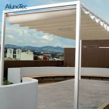 china motorized waterproof pergola retractable roof awning outdoor