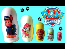 paw patrol nesting toys stacking cups surprise marshall rubble