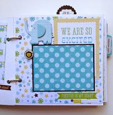 personalized scrapbooks scrapbook mini album baby boy premade personalized by artsyalbums
