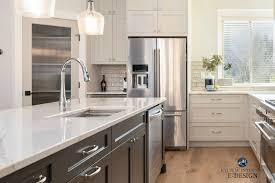 what color quartz with cabinets our revere pewter kitchen cabinet remodel all the details