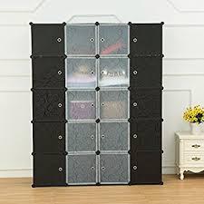 Plastic Storage Cabinets With Doors by Amazon Com Unicoo Multi Use Diy Plastic 20 Cube Organizer