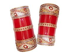 punjabi wedding chura top quality zircon mahroon golden white designer wedding
