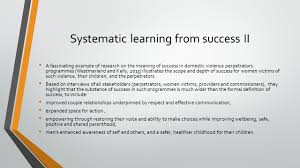 Fascinating Meaning Learning From Success Prof Shula Ramon Andy Quin 2 Nd December
