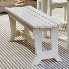 Outdoor Dining Bench Best Redwood Backless Picnic Table Bench Hayneedle