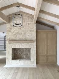 giannetti home malibu project stone fireplace in great room