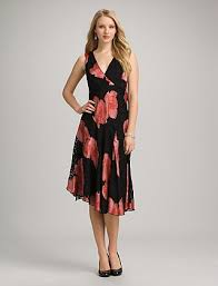 asymmetrical floral burnout dress dress barn pinterest