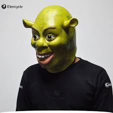 Shrek Halloween Costumes Adults Aliexpress Buy Green Shrek Latex Masks Movie Cosplay Prop