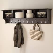 prepac 60 in wall mounted coat rack in espresso eec 6016 the