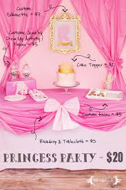 interior design simple princess themed birthday party