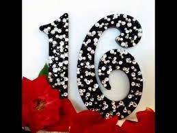 16 cake topper black sweet 16 cake topper