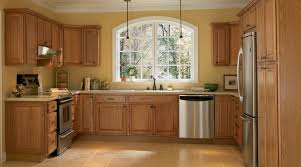 oak kitchen cabinets yellow walls big window kitchen home depot kitchen kitchen cabinet