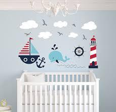 Sailboat Decor For Nursery Nautical Theme Wall Decal Nautical Decor Nursery Wall Decals