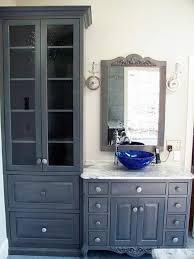 bathroom amusing design of white corner linen cabinet for