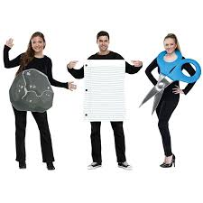 halloween computer paper amazon com rock paper scissors costume set standard chest