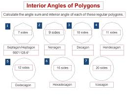 Regular Pentagon Interior Angles Angles Of Polygons Find The Sum Of The Measures Of The Interior