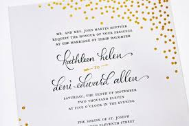 calligraphy invitations gorgeous gold foil sted calligraphy invitations invitation crush
