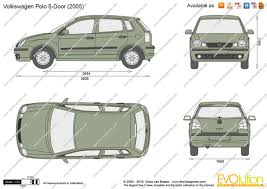 volkswagen drawing the blueprints u2013 vector drawing u2013 volkswagen polo door within