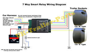 7 way universal bypass relay wiring diagram uk trailer parts