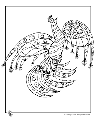 abstract peacock coloring page woo jr kids activities