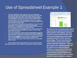 List Of Spreadsheet Software Use Of Spreadsheet Software Ppt