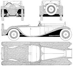 bugatti drawing car blueprints bugatti type 41 royale esders blueprints vector