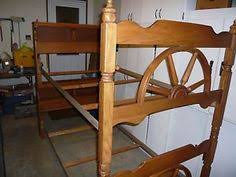 Vintage Wooden Western Wagon Wheel Bunk Bed  Twin Cowboy - Vintage bunk beds