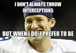 Seahawks Lose Meme - i don t always throw interceptions but when i do i prefer to be