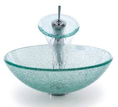 bathroom glass vessel sink and faucet combination kraususa