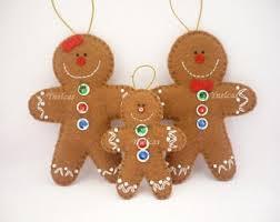 gingerbread felt ornament felt gingerbread