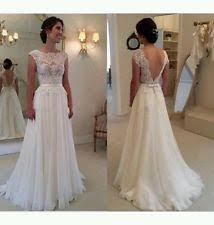 wedding dress uk chiffon scoop neck wedding dresses ebay