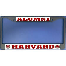 harvard alumni license plate frame harvard