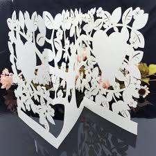 Laser Cut Invitation Cards White Laser Cut Wedding Celebration Birthday Party Invitation Card