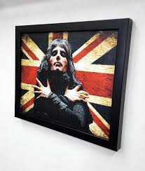 freddie mercury the queen framed wall art giclee canvas