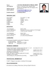 licensing officer resume blood transfusion blood