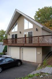 a newer custom built a frame contemporary style house stock