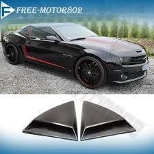 chevrolet camaro ss zl1 for 10 15 chevy camaro ss zl1 xenon rear window louvers scoops ebay