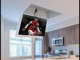 tv a soffitto sollevatore tv a soffitto flip 100 staffa tv motorizzata a