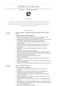 software tester resume samples visualcv resume samples database