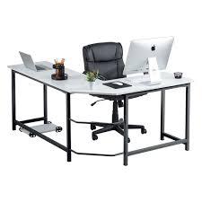 Metal L Shaped Desk Fineboard Stylish L Shaped Office Computer Corner Desk Elegant