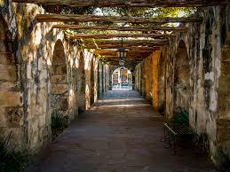 home decor san antonio alamo mission archway at the garden in san antonio texas 8x10