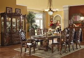 traditional dining table set