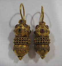Ottoman Empire Jewelry Pair Of Ottoman Gold Earrings In The Style Os 072 For Sale