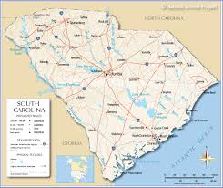 Map Of Southern Michigan by Reference Map Of South Carolina Usa Nations Online Project