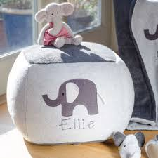 elephant personalised beanbag by funky feet fashions